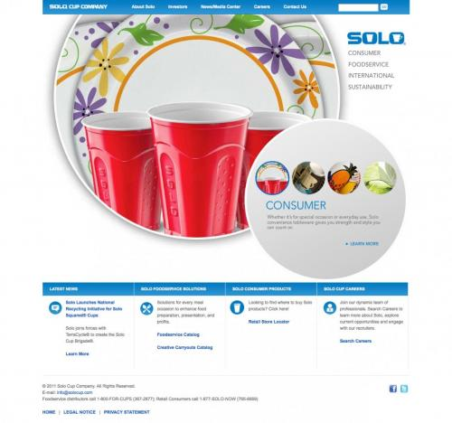 Solo Cup Home Page